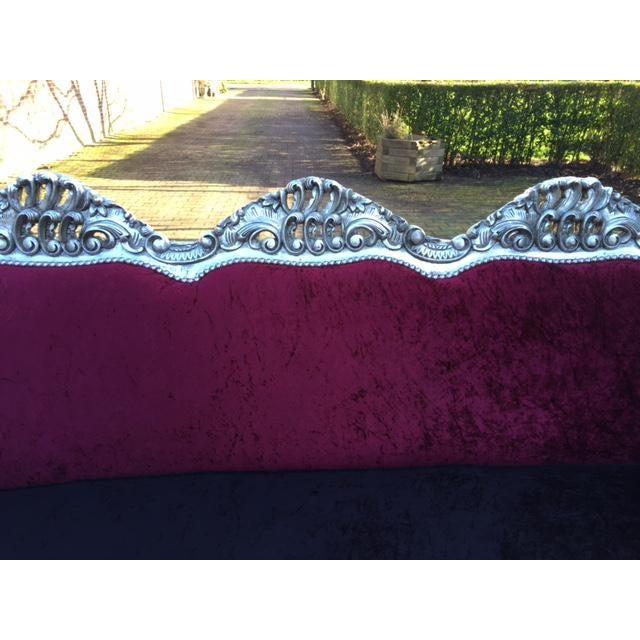 Red & BlackVelvet Baroque Sofa - Image 4 of 8