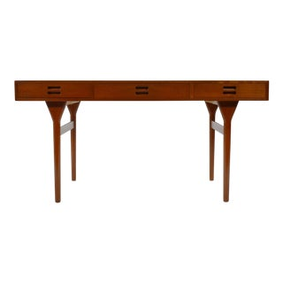 Nanna Ditzel & Jørgen Ditzel Three-Drawer Teak Desk For Sale