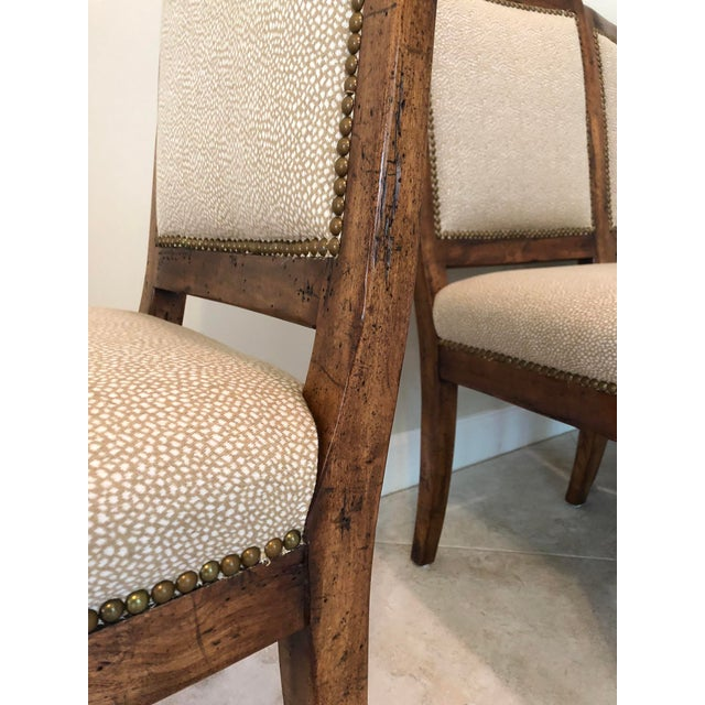 Brown Bausman & Company Bench Made Side Chairs - Set of 4 For Sale - Image 8 of 13