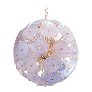 Iridescent Murano Disc Sputnik Chandelier For Sale