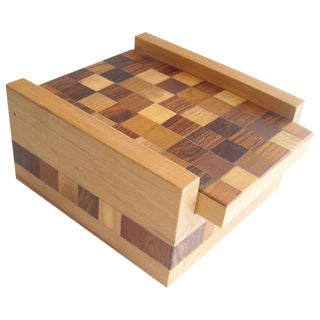 Don Shoemaker Parquetry Work Box for Senal Sa Mexico Label For Sale