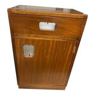 English Mid Century Mahogany Night Stand(s) Side Tables(s) Ship/Student Lockers For Sale