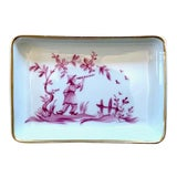 Image of 1960s Limoges Chinoiserie Trinket Dish For Sale