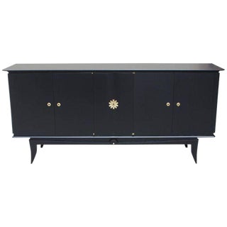 "1940s Vintage French Art Deco ""Black Lacquer"" Sideboard /Buffet."