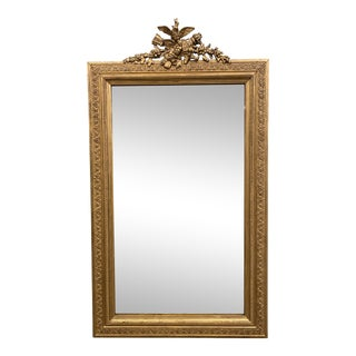 French Napoleon III Period Carved & Gilt Figural Mirror For Sale