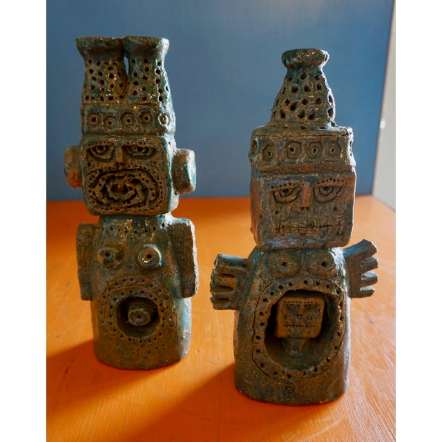 Blue Oversized Ceramic Chess Set For Sale - Image 8 of 11