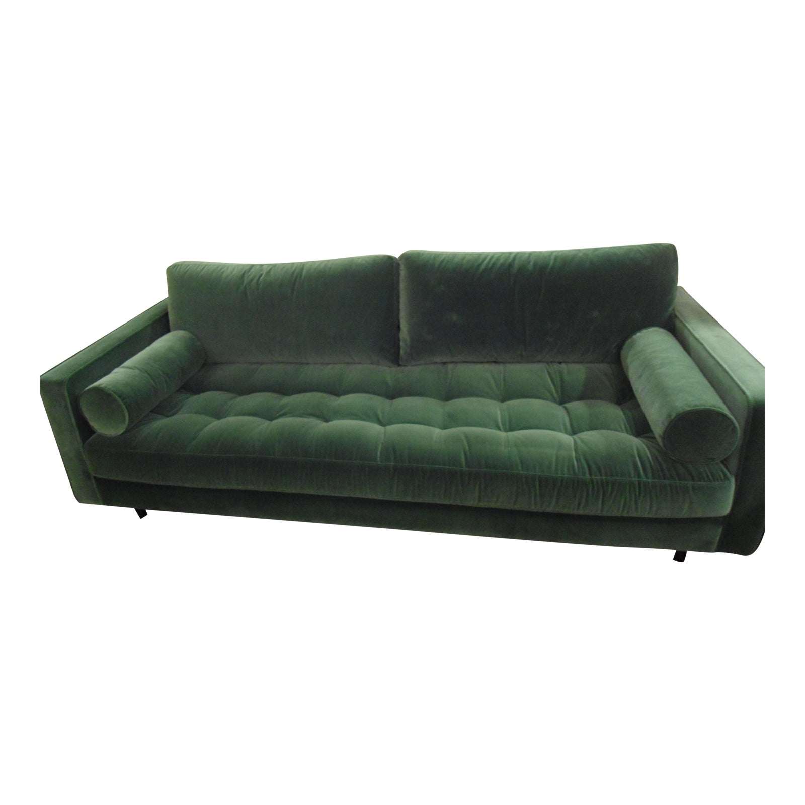 Surprising Sven Grass Green Sofa W Bolster Pillows By Article Evergreenethics Interior Chair Design Evergreenethicsorg