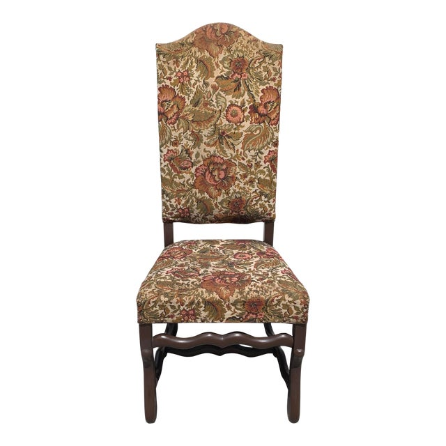 1900s Vintage French Louis XIII Style Os De Mouton Dining Chair For Sale