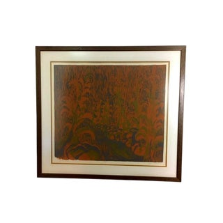 "1967 Serigraph Titled ""Landscape"" by Jean Nicklas For Sale"