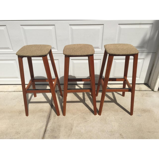 1970s Tarm Stole Og Mobelfabrik of Denmark Bar Stools - Set of 3 For Sale - Image 5 of 12