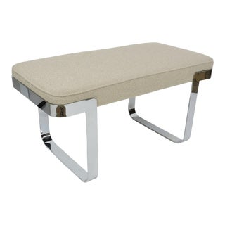 Mid-Century Modern Milo Baughman Style Chrome Benches by Tri-Mark Designs For Sale