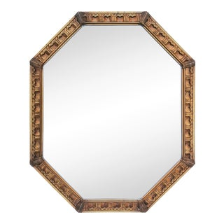1960s Large Octagonal Giltwood Mirror For Sale