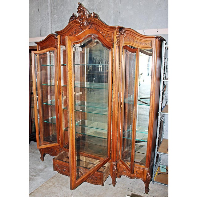French Provincial 19th Century French Provincial 3-Door Armoire For Sale - Image 3 of 11