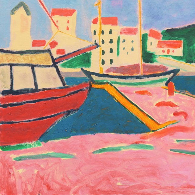 'Port De Vendres' by Ant McNaught, 2020, After André Derain, Esalen, California, Post Impressionist Oil For Sale In Monterey, CA - Image 6 of 12