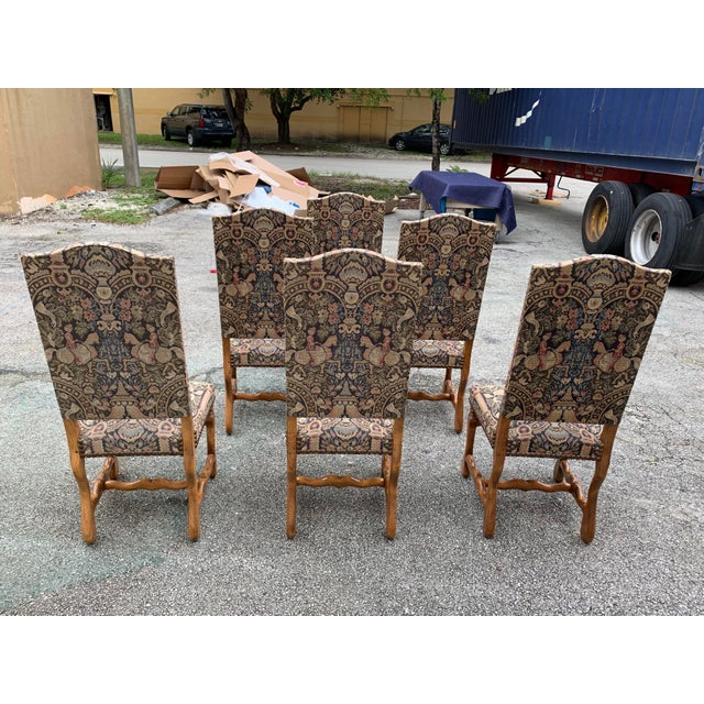 French 1900s Century French Country Louis XIII Style Os De Mouton Dining Chairs - Set of 6 For Sale - Image 3 of 13