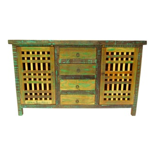 Eco-Friendly Reclaimed Solid Wood Buffet Cabinet For Sale
