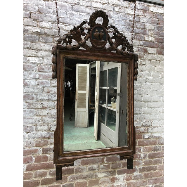 French Louis XVI Mirror, 18th Century For Sale - Image 3 of 8