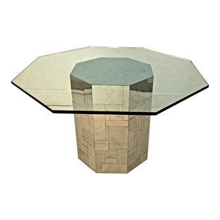 Modern Paul Evans Cityscape Chrome Octagon Base For Sale