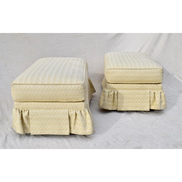 1990s Vintage Ottomans on Casters, Pair For Sale - Image 5 of 10