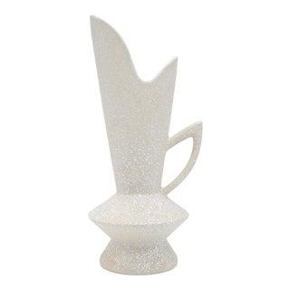 1950s Speckled White Mid-Century Atomic Era California Originals Textured Vase For Sale