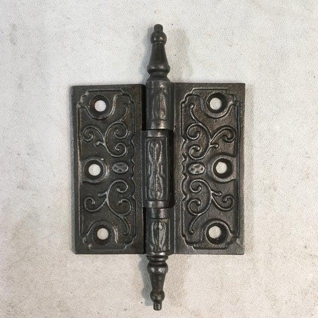 Victorian Antique Victorian Eastlake Steeple Tip Door Hinges - Set of 7 For Sale - Image 3 of 11