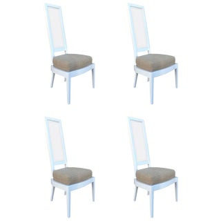 1970s White Lacquer And Lucite Dining Chairs - Set of 4