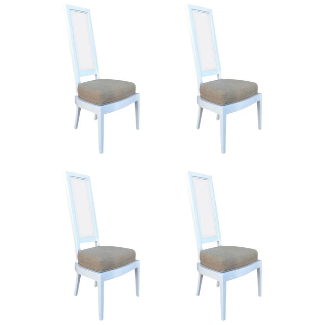 1970s White Lacquer And Lucite Dining Chairs - Set of 4 - Image 1 of 6