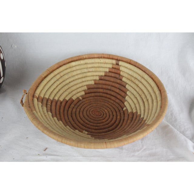 Textile Ghanian Triangle Basket For Sale - Image 7 of 7