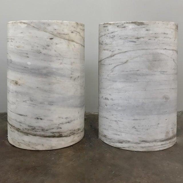 Pair Antique Solid Marble Half-Columns ~ Pedestals For Sale - Image 4 of 13