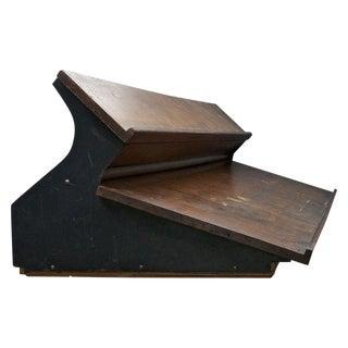 Hamilton Typesetters Desktop Vintage Industrial Oak Printing Press Desk Design For Sale