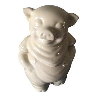 Shawnee White Piggy Cookie Jar