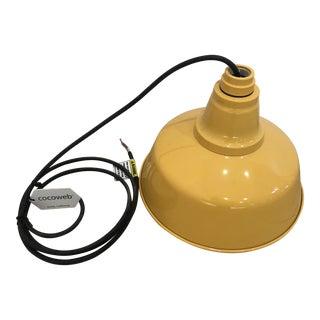"Cocoweb Barn Light 10"" Pendant Yellow For Sale"