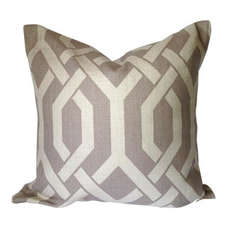Contemporary Grey Gate Decorative Pillow Cover
