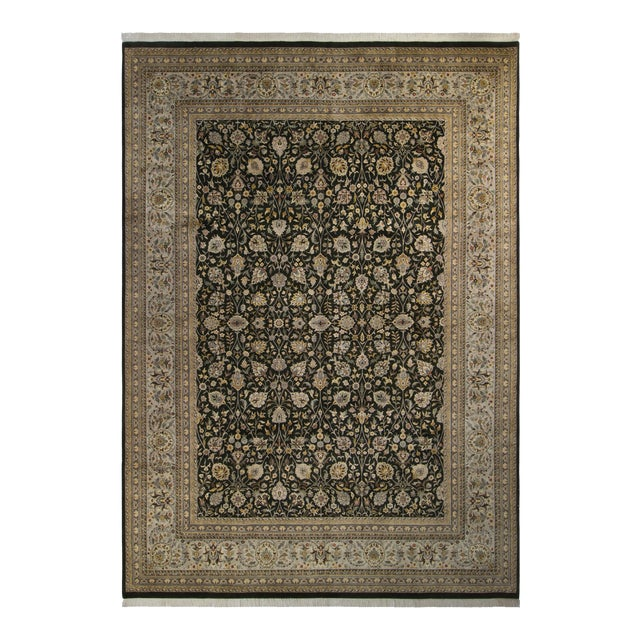 Tabriz Pak-Persian Jewel Charcoal & Gray Wool Rug - 10'0 X 14'3 - Image 1 of 7
