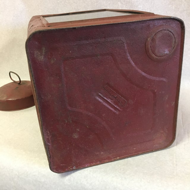 Antique Tin Container For Sale - Image 10 of 11