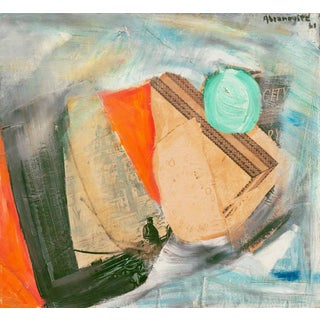 'Abstract in Seafoam and Coral' by Albert Abramovitz, 1961; Art Institute of Chicago, Benezit, Académie Chaumière For Sale