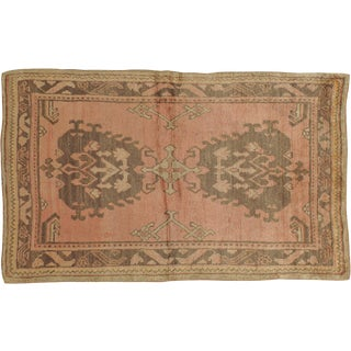 "Vintage Turkish Oushak Rug - 4'0"" X 6'7"""