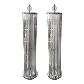 Hollywood Regency Floor Lamps by Fabio Ltd For Sale