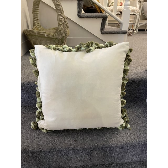 Traditional Vintage Floral Down-Filled Pillow For Sale - Image 3 of 6