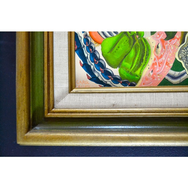 Abstract Sea Theme Framed Oil Painting - Image 4 of 7