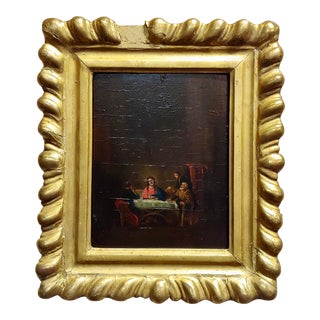 Late 18th Century Supper With Jesus Flemish Oil Painting For Sale