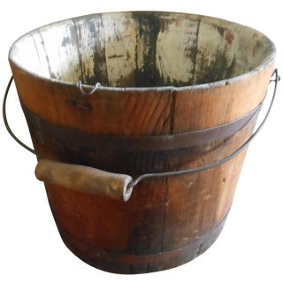 Antique Maple Bucket For Sale