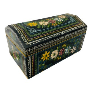 Vintage Hand Painted Box For Sale