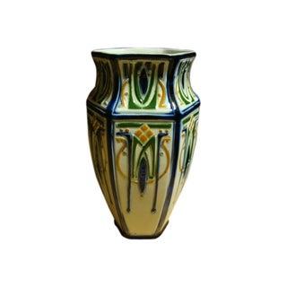 French Majolica Arte Nouveau Vase
