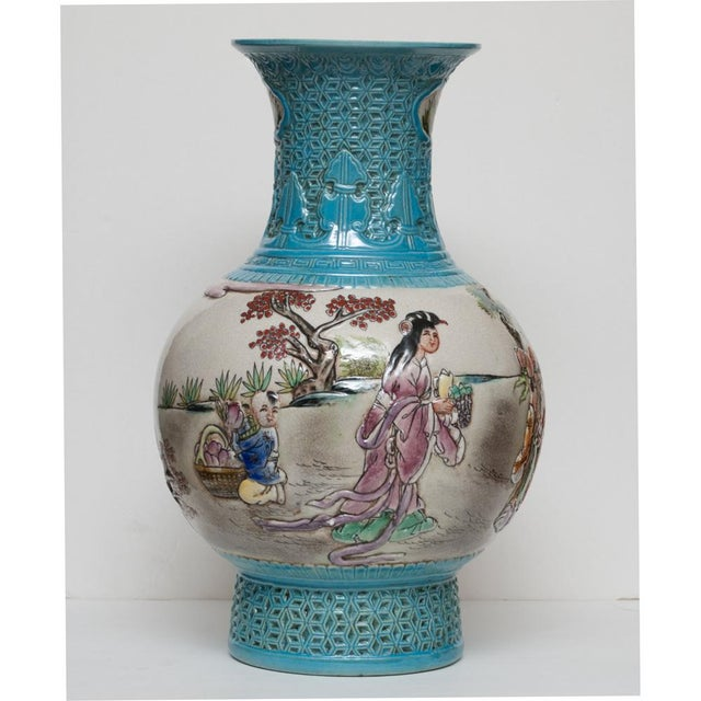 Early 20th C. Carved Famille Rose Vase - Image 5 of 11