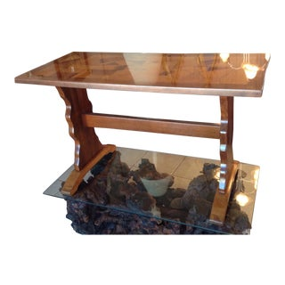 Mid Century Modern Farm Table Trestle Table Multiple Woods For Sale