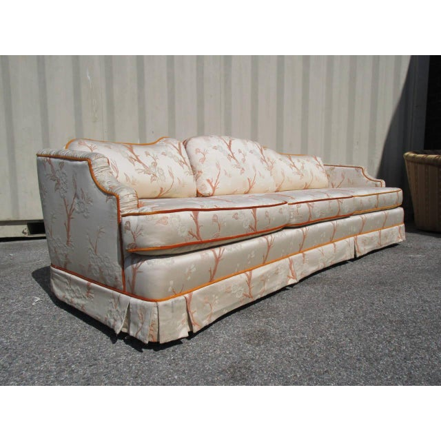 Hollywood Regency Sofa with Pleated Arm Rests - Image 4 of 7