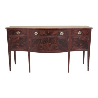 19th Century Federal Style Inlaid Mahogany Sideboard For Sale