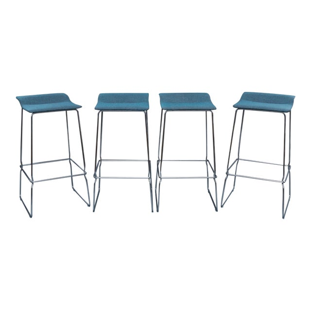 "Set of 4 ""Last Minute"" Bar Stools by Coelessse For Sale"