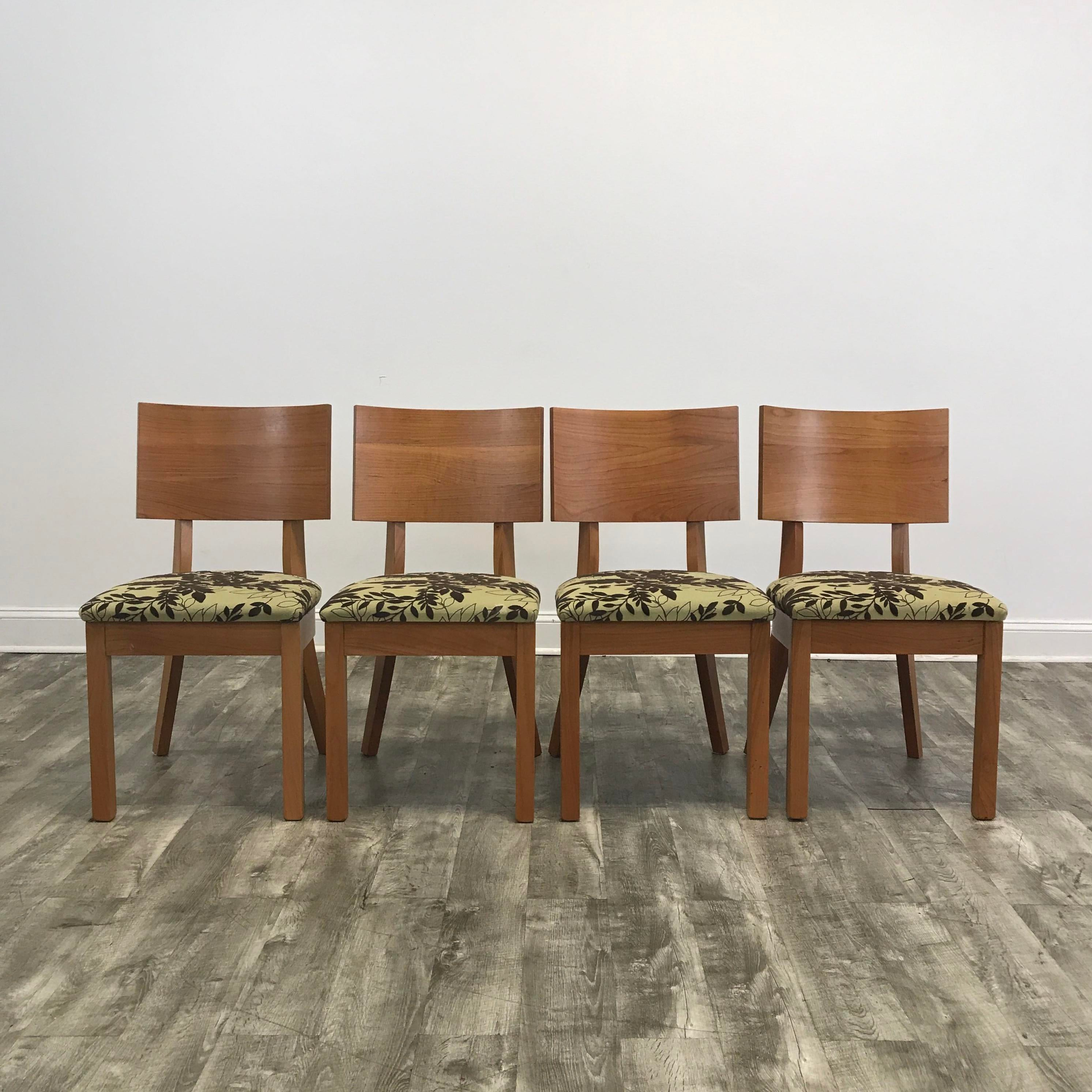 Arhaus Green Patterned Dining Chairs   Set Of 4   Image 2 Of 4